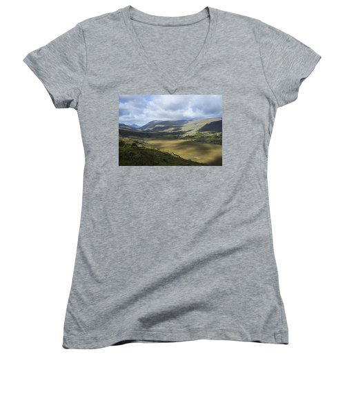Women's V-Neck T-Shirt (Junior Cut) featuring the photograph Ring Of Dingle by Hugh Smith