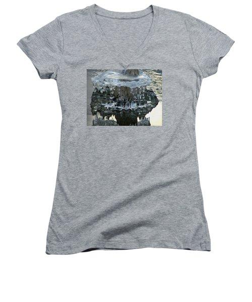 River Ice Women's V-Neck T-Shirt