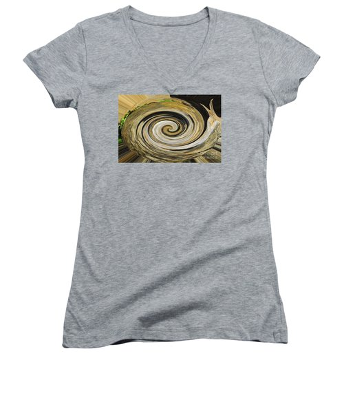 Women's V-Neck T-Shirt (Junior Cut) featuring the photograph Rocky Road by Cindy Manero