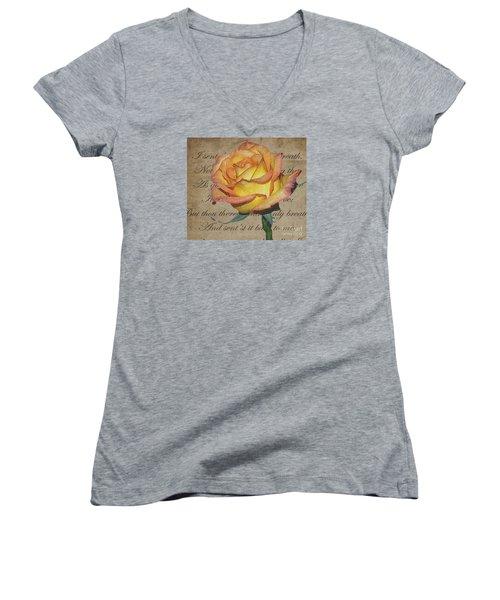 Romantic Rose Women's V-Neck