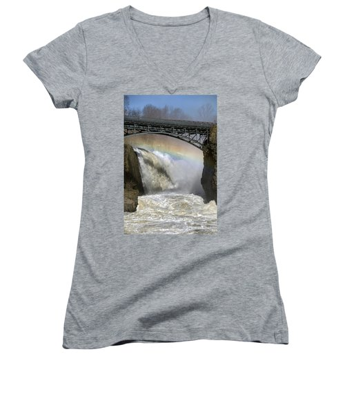 Rushing Waters Women's V-Neck (Athletic Fit)