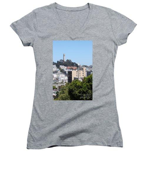 San Francisco Coit Tower Women's V-Neck