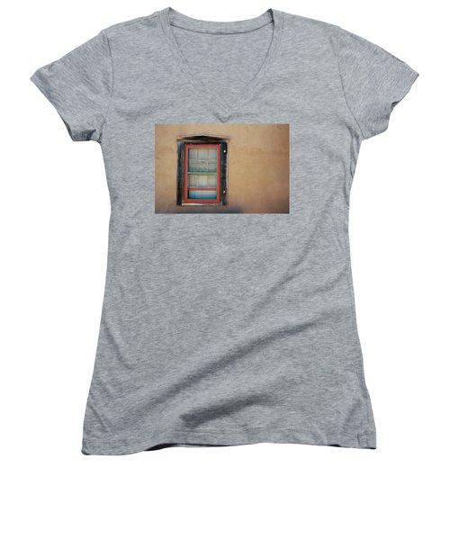 School House Window Women's V-Neck T-Shirt
