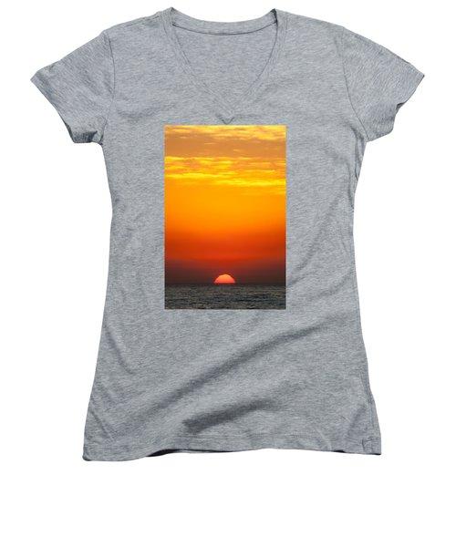 Sea Sunrise Women's V-Neck (Athletic Fit)