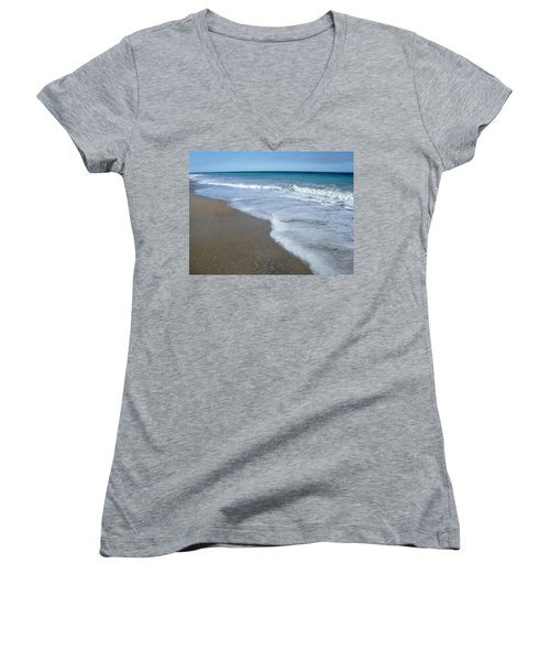 Seascape Wrightsville Beach Nc  Women's V-Neck (Athletic Fit)