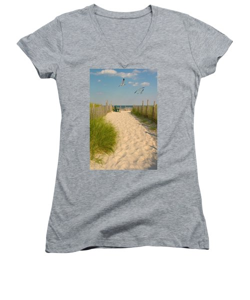 Shore Is Beautiful Women's V-Neck (Athletic Fit)