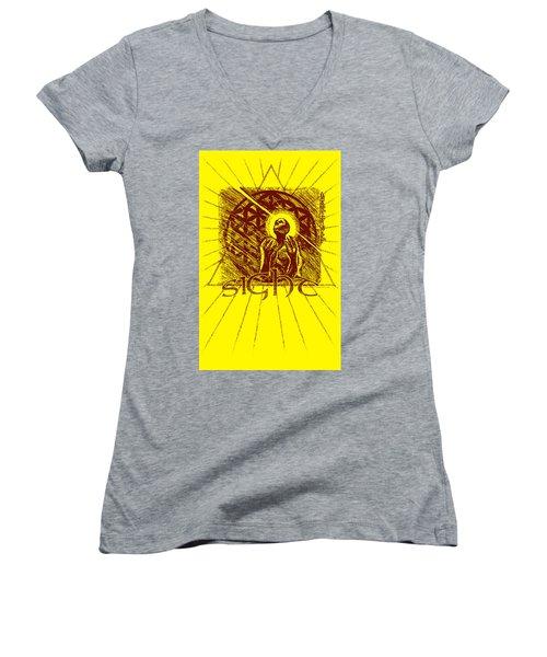 Sight Women's V-Neck T-Shirt (Junior Cut) by Tony Koehl