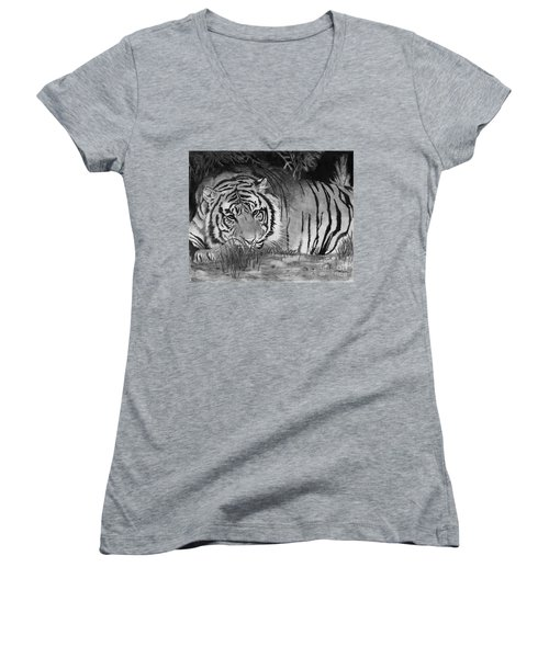 Sleepy Tiger Women's V-Neck (Athletic Fit)