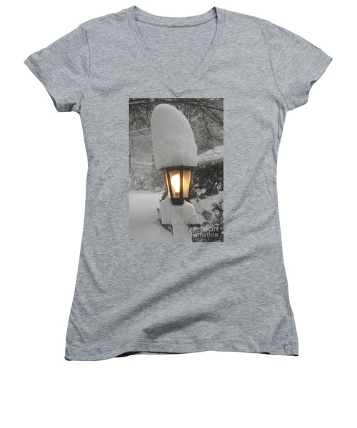 Snow Capped Women's V-Neck (Athletic Fit)