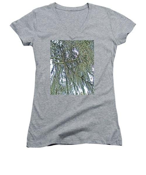 Women's V-Neck T-Shirt (Junior Cut) featuring the photograph Spanish Moss by Lizi Beard-Ward