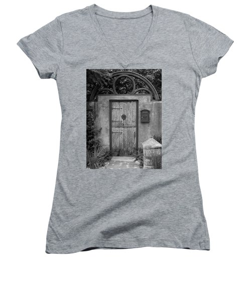 Spanish Renaissance Courtyard Door Women's V-Neck (Athletic Fit)