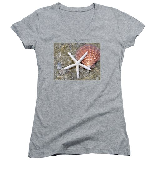Spirit Of The Seashore  Women's V-Neck (Athletic Fit)