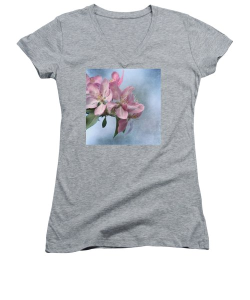 Spring Blossoms For The Cure Women's V-Neck