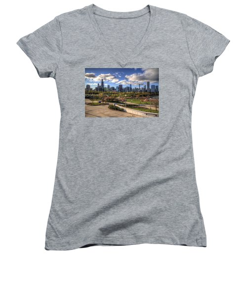 Spring Time Is Here Women's V-Neck (Athletic Fit)