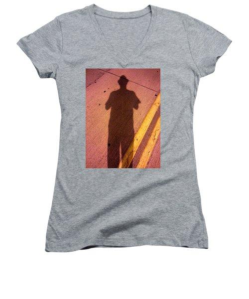 Street Shadows 001 Women's V-Neck T-Shirt