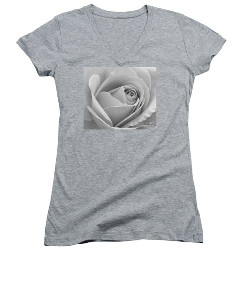 Women's V-Neck T-Shirt (Junior Cut) featuring the photograph Study In Black And White by Cindy Manero