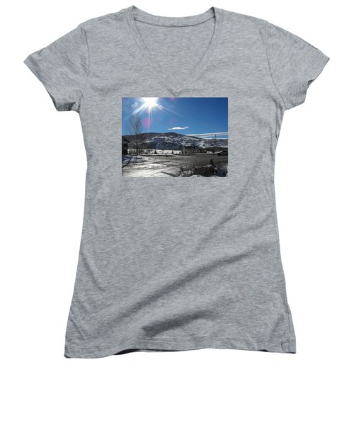 Sun On Ice Women's V-Neck (Athletic Fit)