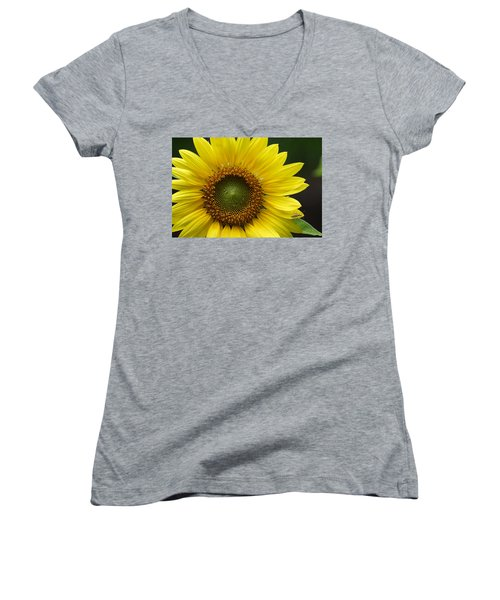 Sunflower With Insect Women's V-Neck