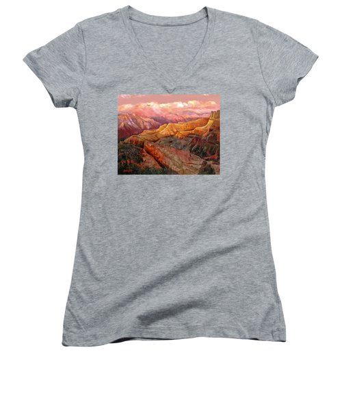 Sunset Grand Canyon Women's V-Neck