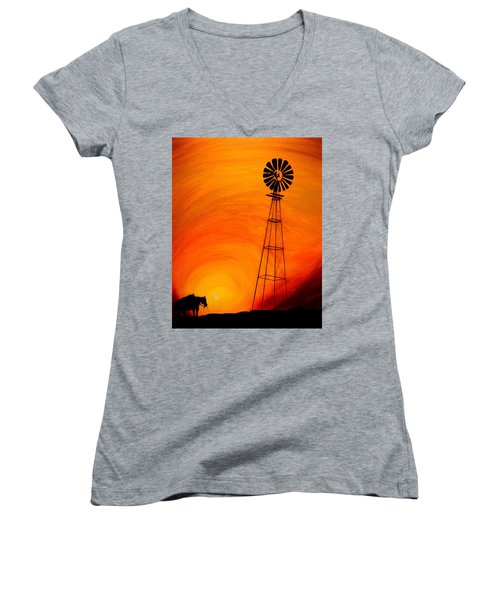 Sunset Women's V-Neck
