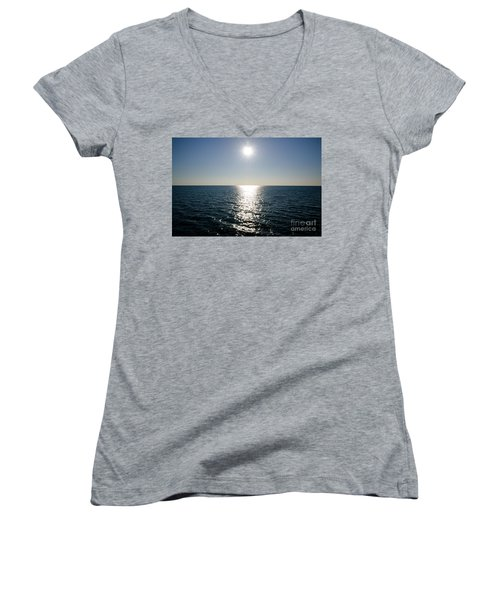 Sunshine Over The Mediterranean Sea Women's V-Neck