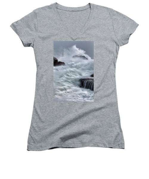 Swallowed By The Sea Women's V-Neck