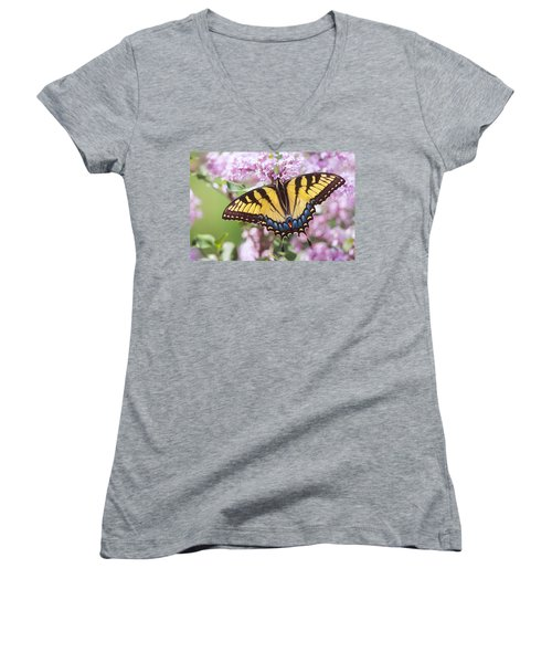 Swallowtail Butterfly Women's V-Neck (Athletic Fit)