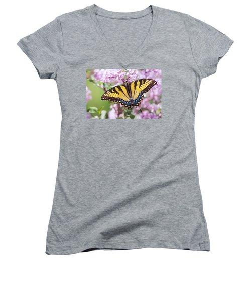 Swallowtail Butterfly Women's V-Neck T-Shirt
