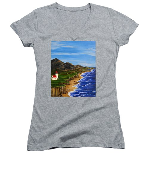 Sylvia's Seascape Women's V-Neck T-Shirt