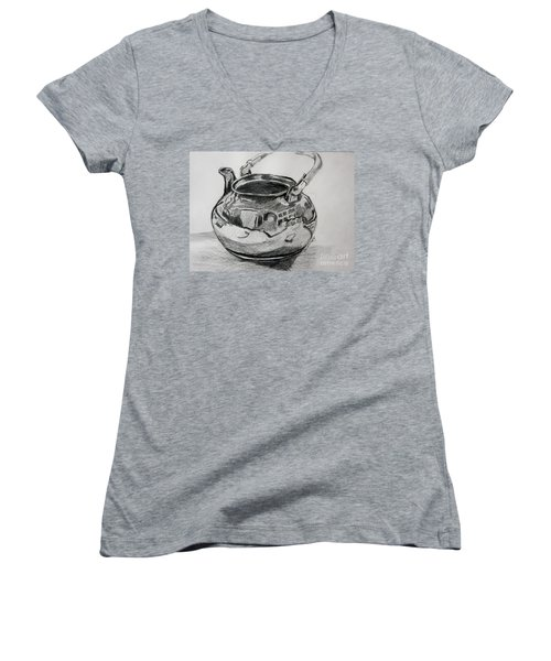 Teapot Reflections Women's V-Neck (Athletic Fit)