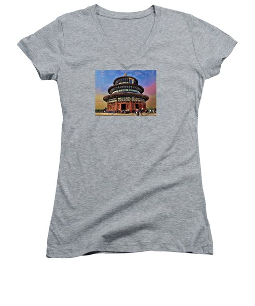 Temple Of Heaven - Beijing China Women's V-Neck T-Shirt