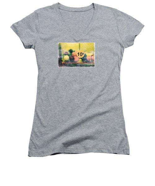 Ten Cent Candy Women's V-Neck T-Shirt (Junior Cut) by Toni Hopper