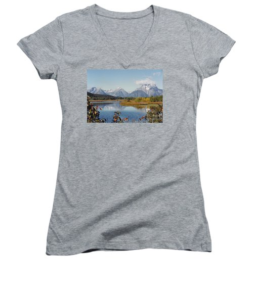 Tetons Reflection Women's V-Neck T-Shirt
