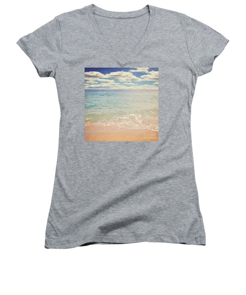 The Beach Women's V-Neck T-Shirt (Junior Cut) by Lyn Randle