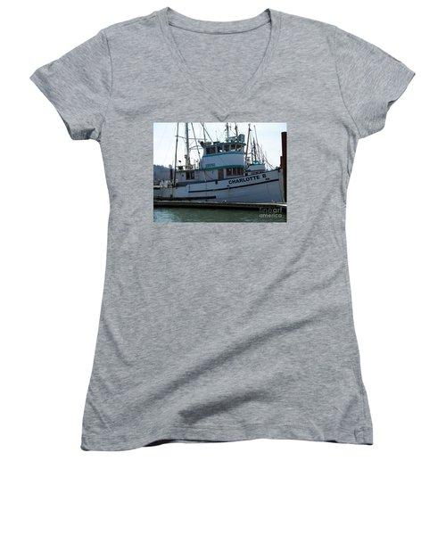 The Charlotte B Women's V-Neck T-Shirt (Junior Cut)