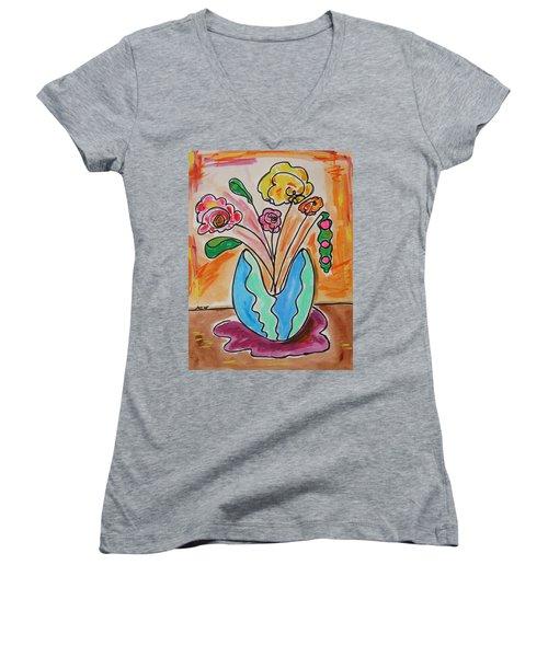 The Colors Of Sherbert Women's V-Neck T-Shirt
