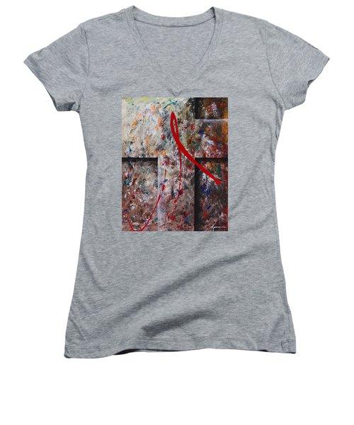 The Greatest Love Women's V-Neck T-Shirt (Junior Cut) by Kume Bryant
