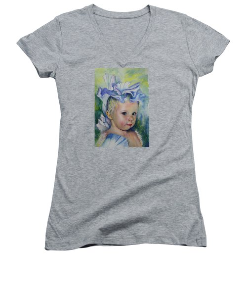 The Iris Princess Women's V-Neck T-Shirt