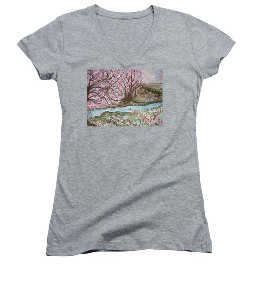 The Pink Tree Women's V-Neck (Athletic Fit)