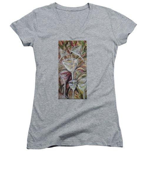 The Winetoast Women's V-Neck T-Shirt