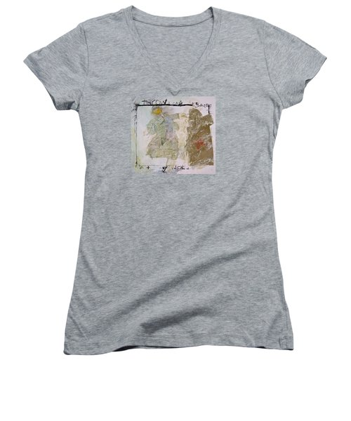 Throwing Stones At My World Women's V-Neck T-Shirt (Junior Cut) by Cliff Spohn