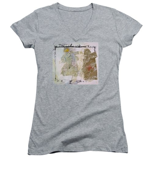 Throwing Stones At My World Women's V-Neck