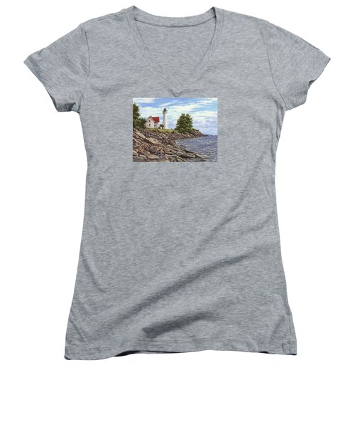 Tibbetts Point Lighthouse Women's V-Neck T-Shirt