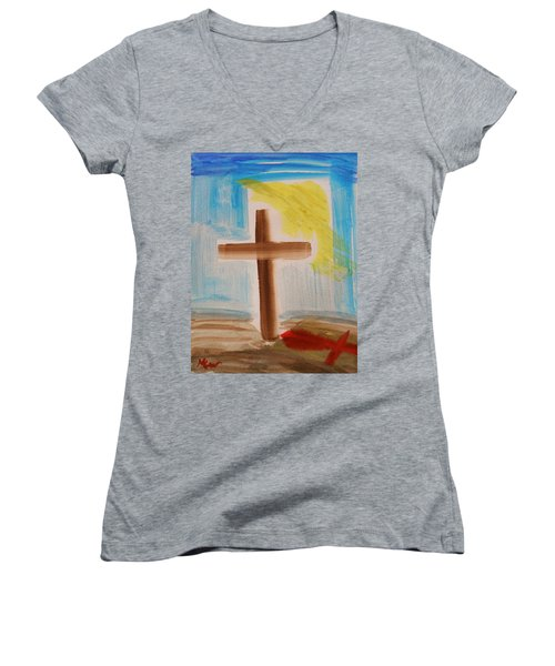 Tim Tebow's Cross-easter Monday Women's V-Neck (Athletic Fit)