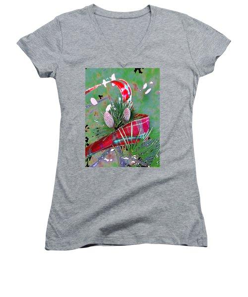Tis The Season Women's V-Neck T-Shirt (Junior Cut) by Anne Mott