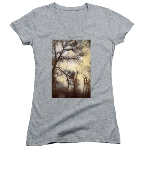 Trees  Women's V-Neck (Athletic Fit)