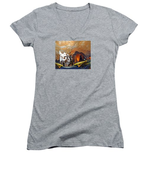 Underground Swim Women's V-Neck T-Shirt
