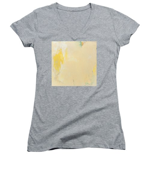 Untitled Abstract - Bisque With Yellow Women's V-Neck (Athletic Fit)