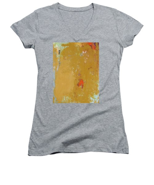 Untitled Abstract - Ochre Cinnabar Women's V-Neck (Athletic Fit)