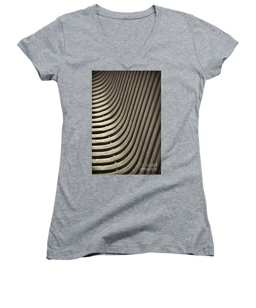 Women's V-Neck T-Shirt (Junior Cut) featuring the photograph Upward Curve. by Clare Bambers